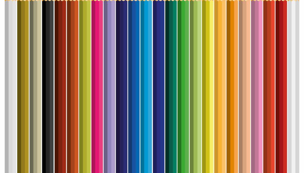 24 color pencil vector klein