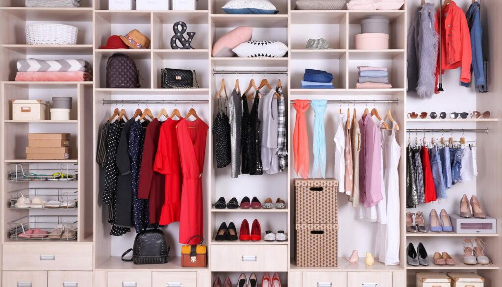A very nicely organized wardrobe