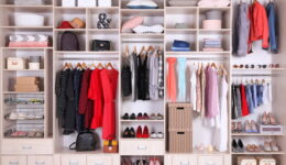 A very nicely organized wardrobe