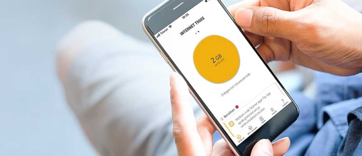 The telenet app on a smartphone screen
